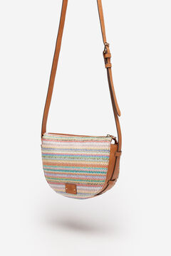 Springfield Multicoloured striped raffia bag camel