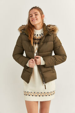 Springfield Fur Hood Quilted Jacket green