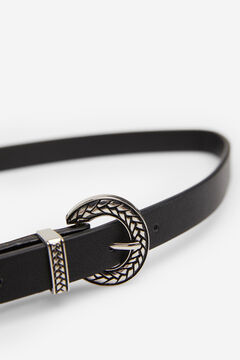 Springfield Silver buckle belt black