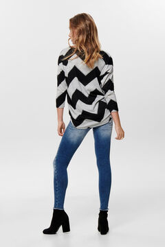 Springfield Printed 3/4-length sleeve blouse light gray
