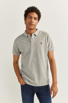 Springfield ESSENTIAL SLIM FIT POLO SHIRT grey