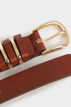 Springfield Cinturón liso marrón