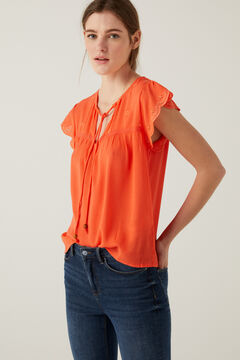 Springfield Embroidered blouse royal red
