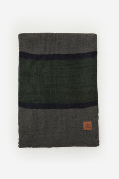Springfield STRIPED SCARF dark green