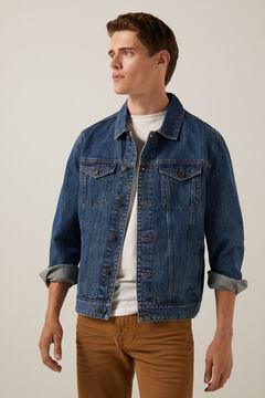 Springfield Dark wash denim jacket blue