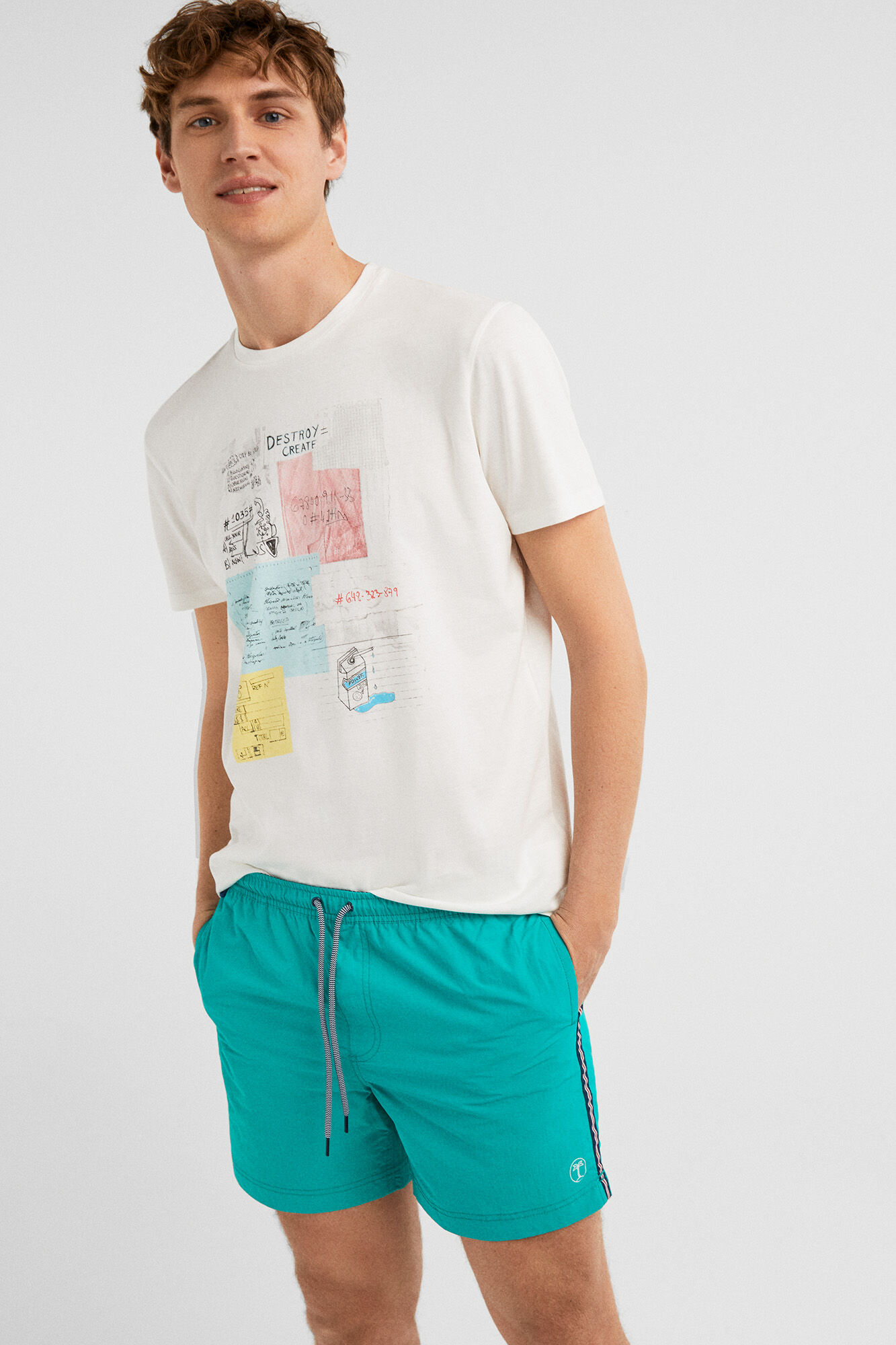 3006cfb135f5e Plain nylon swimming shorts | Beachwear | Springfield Man & Woman