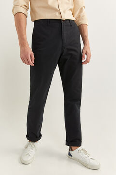 Springfield PANTALON CHINO REGULAR FIT noir