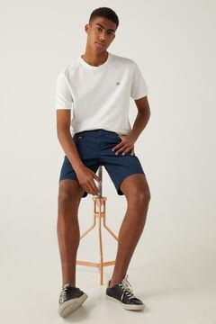 Springfield Washed slim fit 5-pocket Bermuda shorts blue