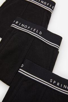 Springfield Pack 3 boxers básicos preto