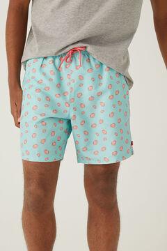 Springfield Crab print swimming shorts violet
