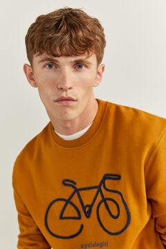 Springfield SWEAT-SHIRT RAS DU COU BICYCLETTE golden