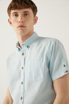 Springfield Camisa manga corta dobby azul