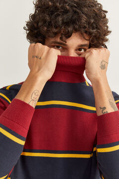 Springfield HIGH NECK COLLEGE STRIPES JUMPER royal red