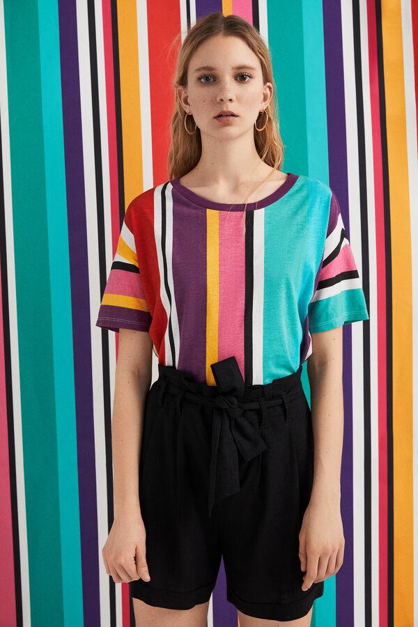 bc11a3898 Springfield Camiseta rayas color natural
