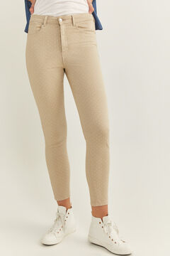 Springfield Skinny High Rise Eco Dye Trousers brown