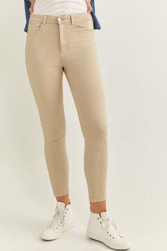 Springfield Pantalon Skinny High Rise Eco Dye brun