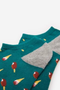Springfield Ankle socks with ice creams green water