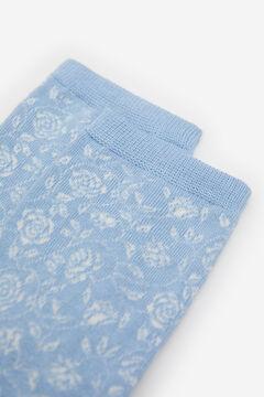 Springfield Calcetín Flores Jacquard azul indigo