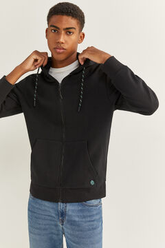 Springfield ESSENTIAL HOODED SWEATSHIRT black