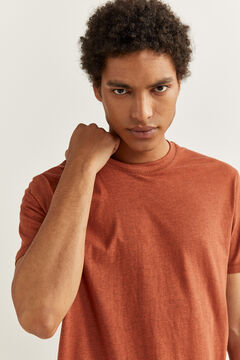 Springfield TEXTURED SHORT-SLEEVED T-SHIRT bordeaux