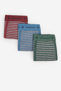 Springfield 3-PACK STRIPED BOXERS deep red