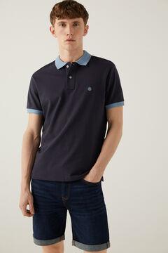 Springfield Kontrasztos piké póló kék