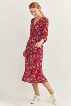 Springfield Floral midi dress rust