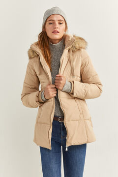 Springfield Down Coat with Fur Hood brown