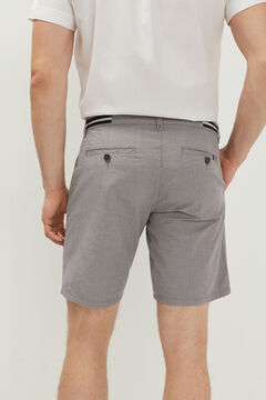 Springfield Two-tone textured Bermuda shorts grey