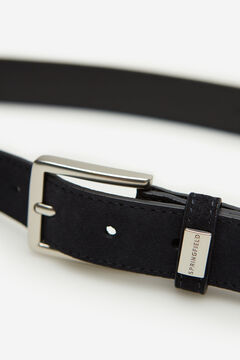 Springfield Suede dress belt blue