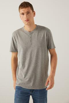 Springfield T-shirt decote padeiro cinza