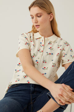 Springfield Organic cotton polo shirt ecru
