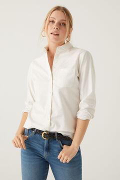 Springfield Hemd Oxford Bio-Baumwolle weiß