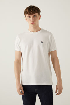 Springfield Piqué logo t-shirt white