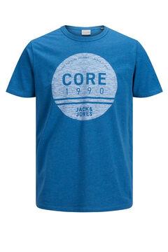 Springfield Logo print t-shirt  bleuté