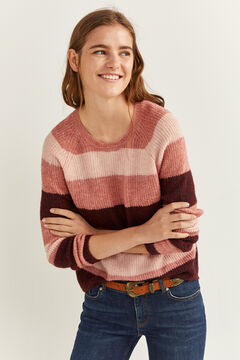 Springfield Colour Block Roses Jumper lavender