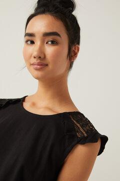Springfield Shirt Crochet Schulter schwarz