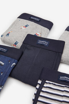 Springfield 5-PACK MUSIC BOXERS gray