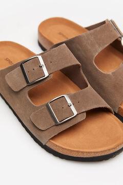 Springfield Cork sole leather sandal camel