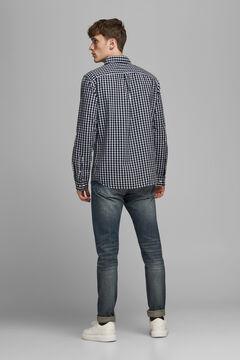 Springfield Printed organic cotton shirt bluish