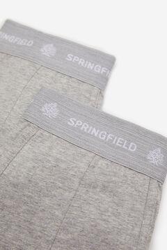 Springfield 2ER-PACK BOXERSHORTS KLASSISCH silber