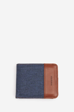 Springfield Combination fabric wallet blue