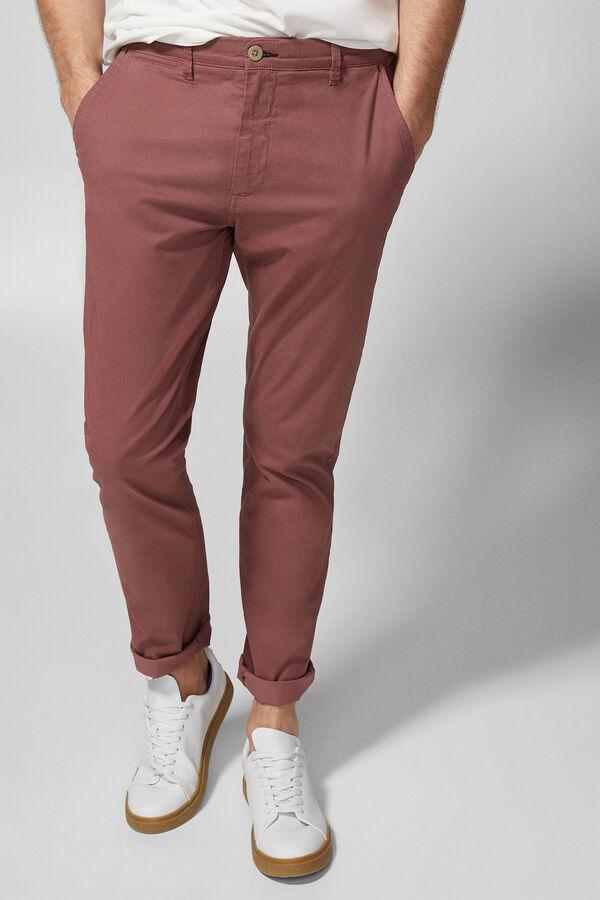 Springfield Pantalón chino con micro estampado rojo 15915d1fb97b