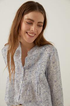 Springfield Paisley print blouse bluish