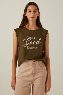 Springfield Create Good Karma T-shirt green