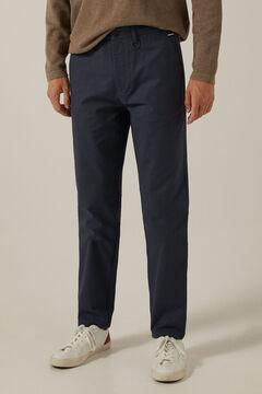 Springfield Strukturált, kétszínű chino nadrág kék