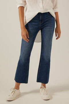 Springfield Sustainable wash kick flare jeans blue