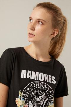 Springfield Organic cotton Ramones T-shirt black