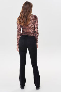 Springfield Bell-bottom trousers  black
