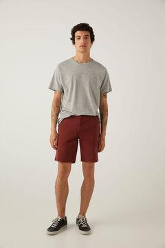 Springfield Bermuda cintura semi elástica vermelho